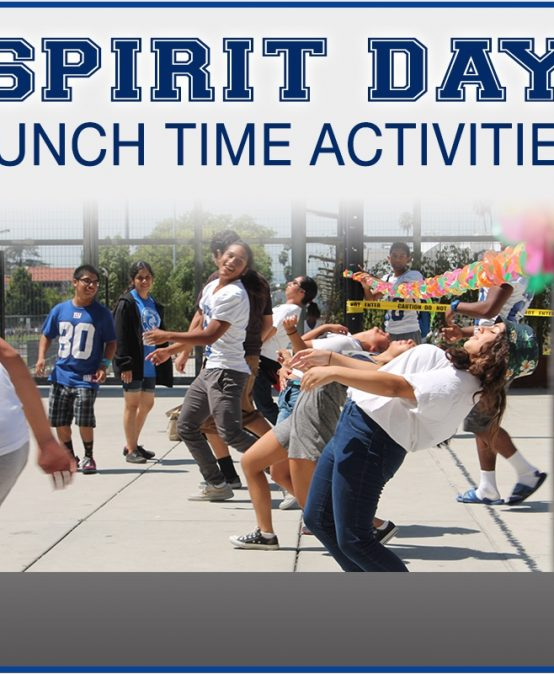 Spirit Day Lunchtime Activities @ 12:47pm-1:17pm