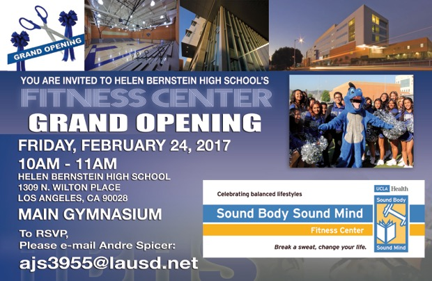 Bernstein Fitness Center Grand Opening