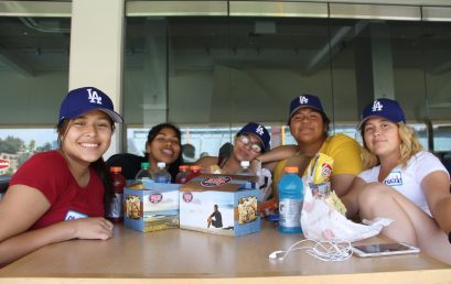 Students Visit The Dodger's Stadium