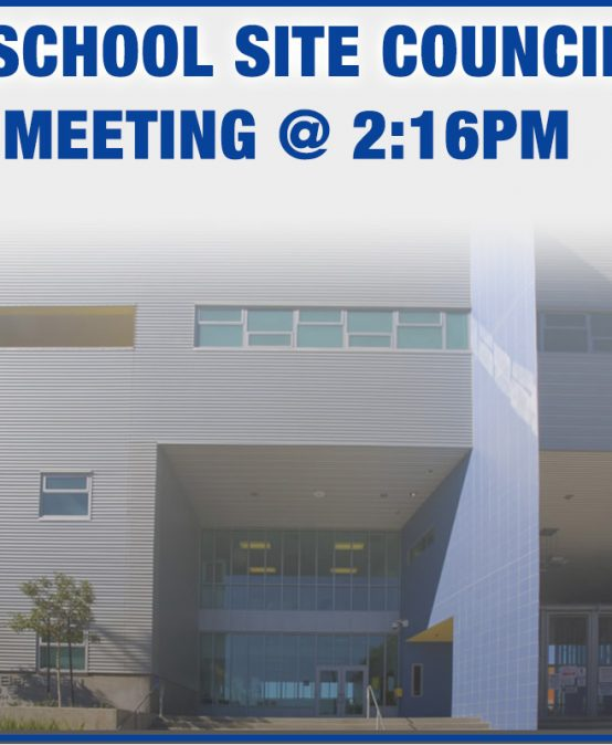 School Site Council @ 2:15PM