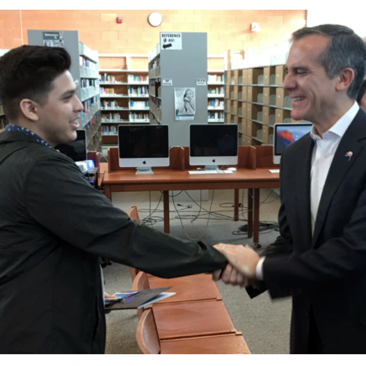 Mayor Garcetti brokers new partnership with Netflix and Bernstein High School