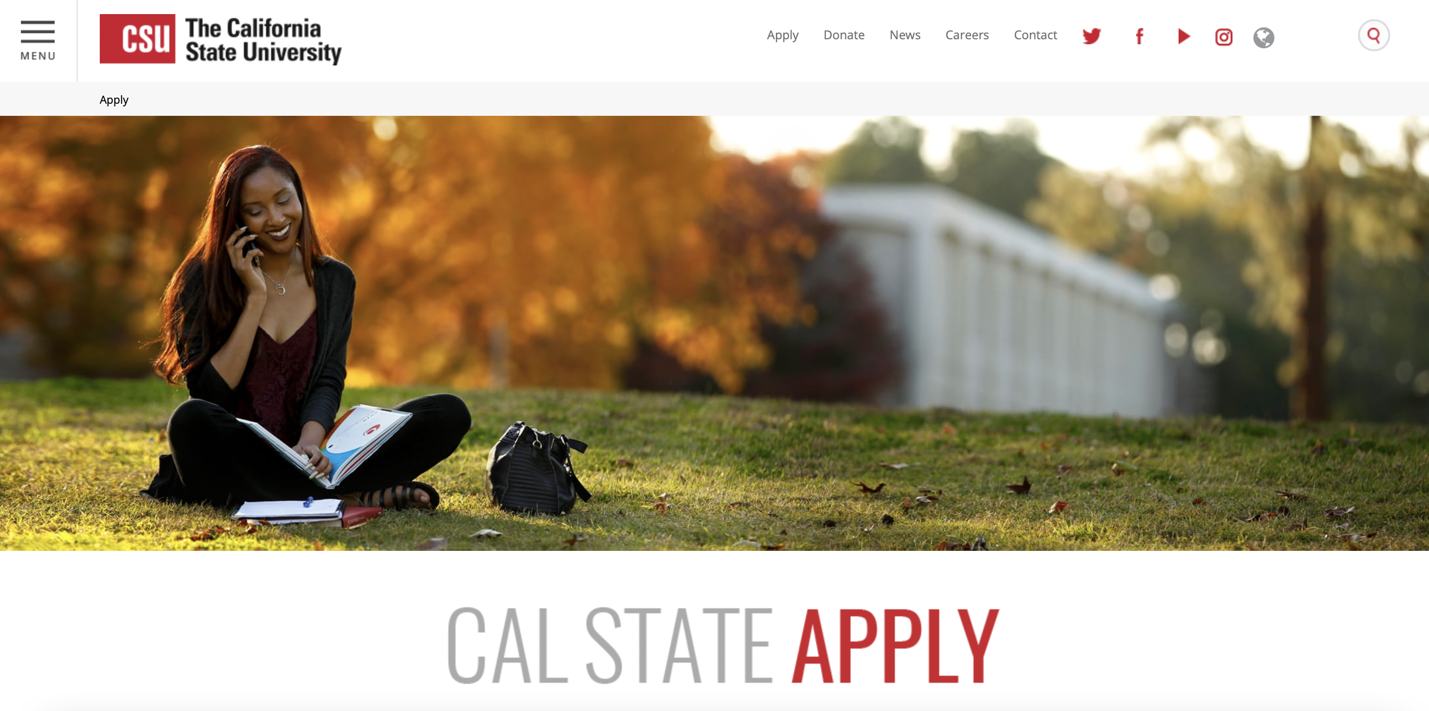 Apply to the Cal State College System